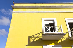 Balcony on Yellow Building Stock Image