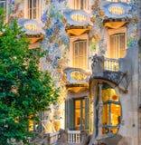 Balconys и Windows Касы Batllo Стоковая Фотография