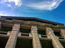 balcony on columns Stock Photo
