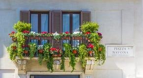 Balcuny in Piazza Navona, Rome Royalty-vrije Stock Fotografie