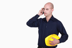 Bald architect Royalty Free Stock Image
