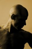 Bald is beautiful. Bald male silhouette royalty free stock image