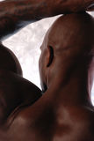 Bald black male royalty free stock images