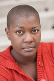 Bald black woman Royalty Free Stock Photography