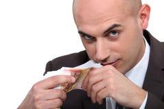Bald business man Royalty Free Stock Photos