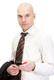 Bald businessman Royalty Free Stock Photos