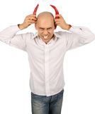 Bald devil Royalty Free Stock Images