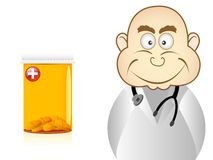 Bald doctor Stock Photo