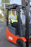 Bald Forklift Driver Royalty Free Stock Photography