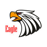 Bald Eagle crying. Vector emblem Stock Photo