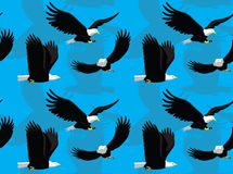 Bald Eagle Flying Cartoon Seamless Wallpaper Royalty Free Stock Photography