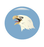 Bald Eagle Globe. Stock Photos