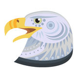 Bald eagle head Logo. Vector decorative Emblem. Royalty Free Stock Image