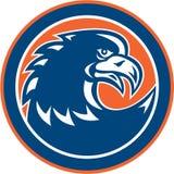 Bald Eagle Head Spiky Neck Circle Retro Stock Image