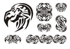 Bald eagle head symbols Stock Image