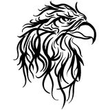 Bald eagle head vector illustration sketch. The stylized image of a eagle head. Vector stylized face of ink sketch eagle. Eagle, tribal tattoo Vector Royalty Free Stock Photos