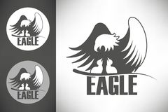 Bald eagle in the nest logo Stock Images