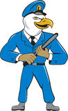 Bald Eagle Policeman Baton Cartoon Stock Photography