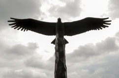 Bald Eagle Statue Silhouette royalty free stock image