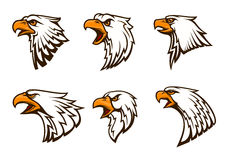 Bald Eagle vector emblems set Stock Photos