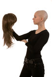 Bald girl Royalty Free Stock Photography