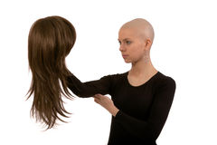 Bald girl Stock Photo