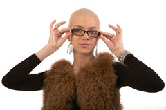 Bald girl Royalty Free Stock Images