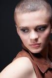 Bald girl looking back Royalty Free Stock Photos