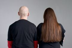 Bald and hairy. People Stock Photos