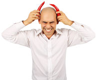Bald handsome devil Royalty Free Stock Images