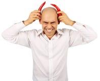 Bald handsome devil Royalty Free Stock Images