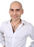 Bald handsome man Stock Images