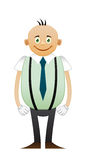 Bald happy office man Royalty Free Stock Images