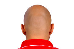 Bald head. Man with bald head isolated on white Royalty Free Stock Photo