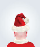 Bald Head With Christmas Suit and Hat Royalty Free Stock Photo
