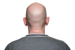 Bald head man. Adult male bald head back or rear view Stock Photo