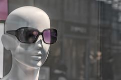 Bald head of a mannequin royalty free stock photos