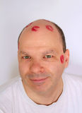 Bald kisses Stock Images