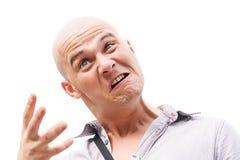 Bald man stock photography
