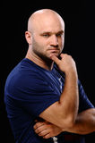 Bald man Stock Photo