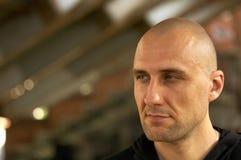 The bald man royalty free stock photo