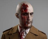 Bald man with a broken head, Royalty Free Stock Photos