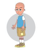 Bald man cartoon character Stock Photo