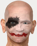 Bald man with clown makeup Stock Photos