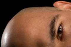 Bald man eye Stock Photo