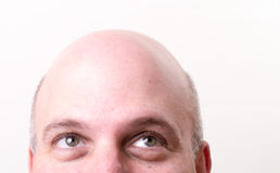 Bald Man Looking Up Royalty Free Stock Images