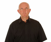 Bald man looking up. A bald man looking up Royalty Free Stock Images