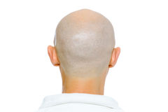 Bald man. Nape. Studio. isolated Royalty Free Stock Photos