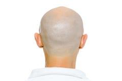 Bald man. Nape. Studio. isolated Royalty Free Stock Photos