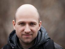 Bald man portrait Royalty Free Stock Photos